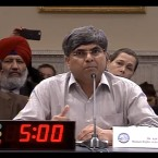 """Ajit Sahi testifies at the Tom Lantos' Human Rights Commission hearing. He spoke on """"Advancement of Human Rights In India."""""""
