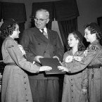 Girl Scouts and Harry Truman