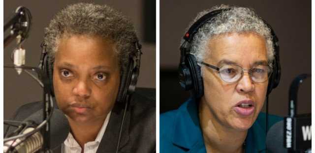 Chicago mayoral candidates Lori Lightfoot (left) and Toni Preckwinkle also say they're opposed to a $95 million police training facility planned for the West Side.