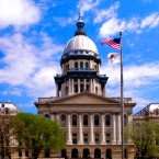 The Illinois State Capitol building in Springfield shown here on Tuesday, April 23, 2002.