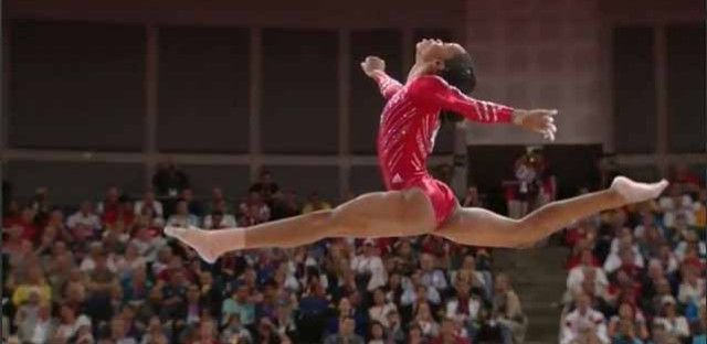 Some scenes from the USA women's gymnastics final