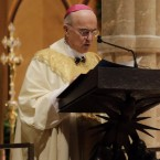 Archbishop Carlo Maria Viganò, seen here in 2014, is being replaced as the apostolic nuncio in the United States, after reaching mandatory retirement age in January.