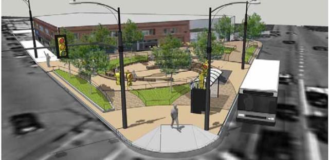 Logan Square parklet would soak up rain along Milwaukee Avenue