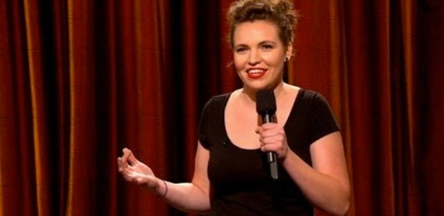 Chicago-based comedienne Beth Stelling performs stand-up on a July 2012 episode of 'Conan.'