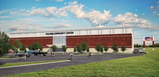 Rendering of the Pullman recreational facility to open in 2015.