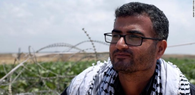Ahmad Abu Artema says he is inspired by Martin Luther King Jr. and Mahatma Gandhi.