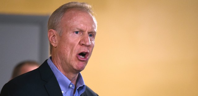 Illinois Gov. Bruce Rauner speaks during a news conference in Chicago on July 5, 2017.