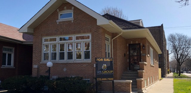 A house acquired by the Cook County Land Bank is currently on the market for $255,000 in South Shore.