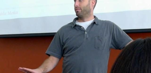 Video: Coach Kaufmann gives WBEZ All-staff pep talk