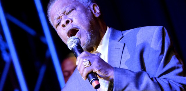 "Joe Ligon of The Mighty Clouds of Joy performs in Nashville in 2013. ""He was the type of singer that would never sit down until he had torn the house up,"" says gospel singer Pastor Shirley Caesar."
