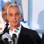 In this Aug. 6, 2018, file photo, Chicago Mayor Rahm Emanuel speaks at a news conference in Chicago. Emanuel announced Tuesday, Sept. 4, 2018, that he will not seek a third term in 2019.