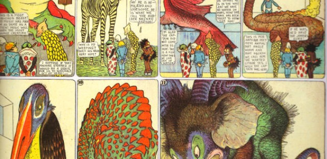 A famous Little Nemo comic strip from 1910.