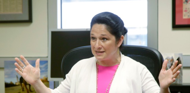 "Illinois Comptroller Susana Mendoza, shown here on June 14, 2017, said borrowing $6 billion at a lower interest rate will mean an end to ""pouring gasoline on a $2 million fire,"" referring to the daily interest payments for which taxpayers are on the hook."