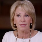 Education Secretary Betsy DeVos stumbles during her interview with Lesley Stahl on CBS's 60 Minutes.