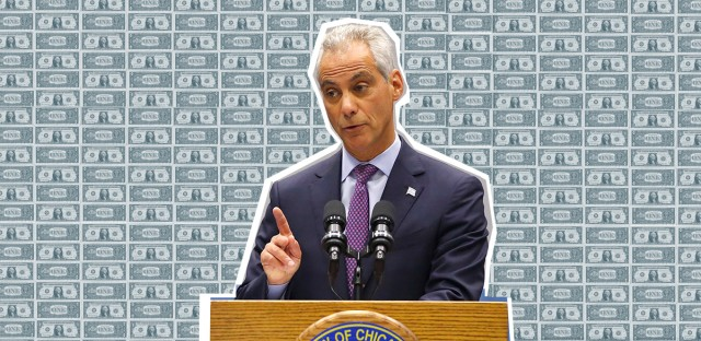 Mayor Rahm Emanuel Budget Illustration