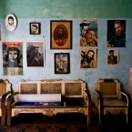 "Images of revolutionary hero Ernesto ""Che"" Guevara, Camilo Cienfuegos , Fidel Castro, Cuban President Raul Castro, and singer Compay Segundo adorn a wall, in Havana, Cuba, Tuesday, March 15, 2016. President Barack Obama is scheduled to travel to the island on March 20, the first U.S. presidential trip to Havana in nearly 90 years."