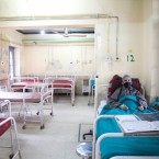 A tuberculosis patient in a hospital for chest diseases in the Indian region of Kashmir.