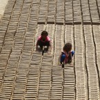 Indian children work at a brick factory on the outskirts of Jammu, India, Tuesday, May 1, 2018.