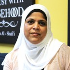Khadija Ahmed, vice president of the Muslim Community Center of Chicago, attends Friday prayer services at a mosque in Morton Grove in the wake of terrorist attacks at two New Zealand mosques.