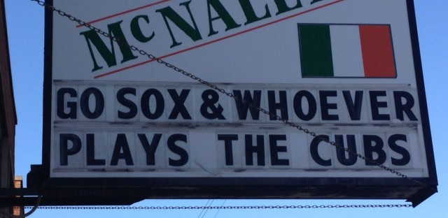 DNA Info Radio Chicago : Should White Sox fans cheer for the Cubs? Konkol and Hansen discuss. Image