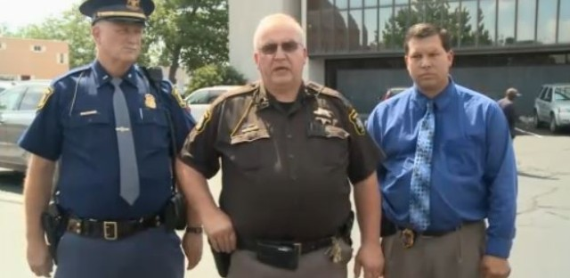 Berrien County Sheriff Paul Bailey addresses the media after today's shooting.