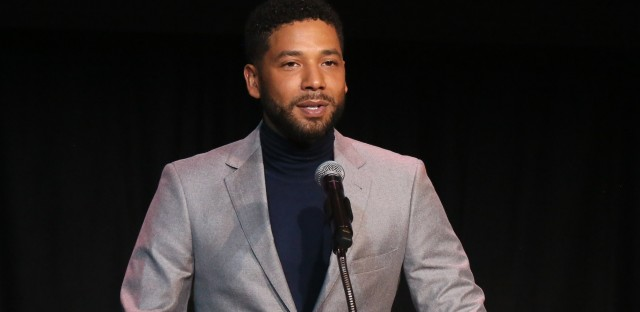 Jussie Smollett speaks last month at an awards ceremony held in Los Angeles by Children's Defense Fund California.