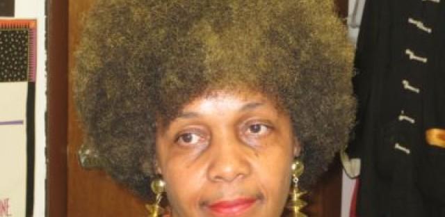 Carlita Jackson wears her hair naturally.