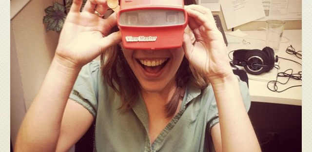 Logan Jaffe is the Curious City intern. It's a BYOV operation (bring your own View-Master).