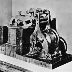 "The Morse-Vail telegraph register, the first telegraph instrument, was used to receive the message ""What Hath God Wrought"" on the experimental line between Washington, DC and Baltimore, Md., on May 24, 1844."