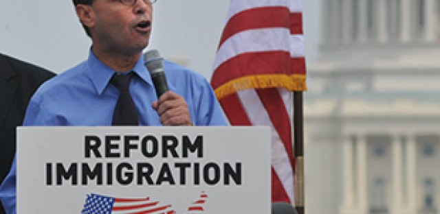 U.S. Rep. Luis Gutierrez, an immigration advocate, does not support the STEM Act.