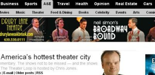 Daily Rehearsal: Trib redesigns their theater section