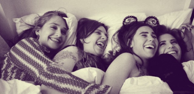 From left: Jemima Kirke, Lena Dunham, Zosia Mamet and Allison Williams: the stars of HBO's smash-hit 'Girls.'
