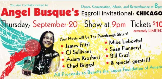 Daily Rehearsal: Angel Busque's Eggroll invitational benefits the Lupus Foundation of America