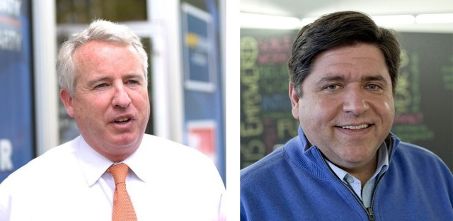 Chris Kennedy and J.B. Pritzker