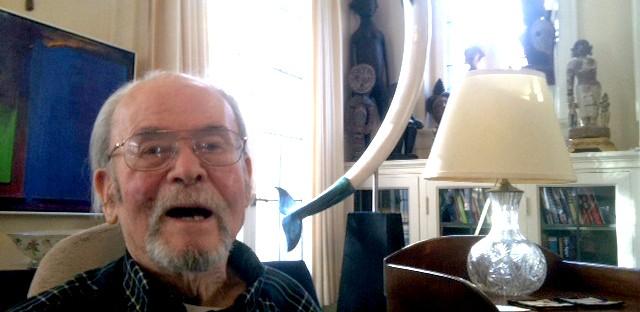 Sculptor John Kearney in his home.