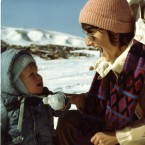 """Sue Klebold plays in the snow with a young Dylan. """"He's like an invisible child that I carry in my arms everywhere I go, always,"""" she says."""