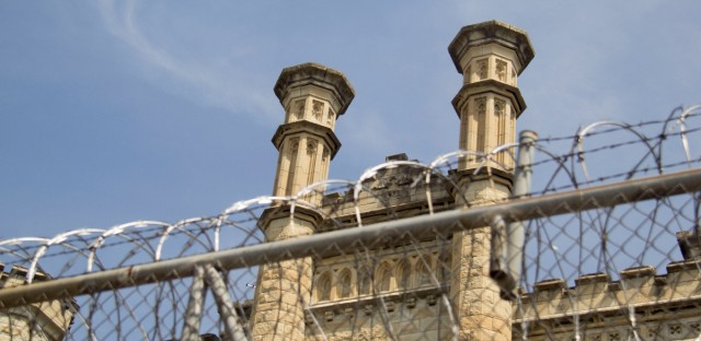"The old Joliet prison, once known as the Illinois State Penitentiary, closed in 2002. The ""castellated gothic"" style building is now opening up to the public for the first time, thanks to a volunteer-led rehabilitation effort."