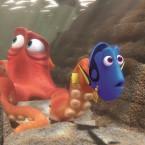 Hank (Ed O'Neill) and Dory (Ellen DeGeneres) in Finding Dory.