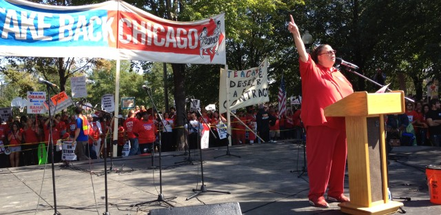 Chicago Teachers Union President Karen Lewis says the fight for a new contract isn't over.