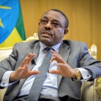 Ethiopia's Prime Minister Hailemariam Desalegn speaks to The Associated Press at his office in the capital Addis Ababa, Ethiopia on March 17, 2016.