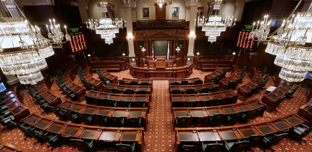 The Illinois House chamber in Springfield.