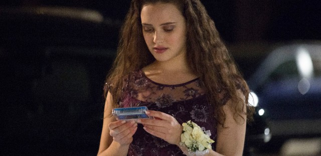 "This file image released by Netflix shows Katherine Langford as Hannah Baker in a scene from the series ""13 Reasons Why."""