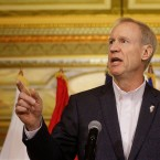 The governor's office is required to release demographic data about appointees to boards, commissions, and task forces on an annual basis. Over the past three years, Gov. Bruce Rauner's appointees have been overwhelmingly white and male. (AP Photo)
