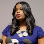 Cook County State's Attorney Kim Foxx speaks at a news conference, Friday, Feb. 22, 2019, in Chicago.
