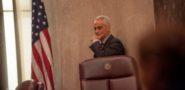 Mayor Rahm Emanuel at City Hall