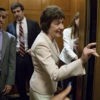 Sen. Susan Collins, of Maine, arrives on Capitol Hill on Tuesday. She is one of three Republicans who said publicly that she opposes a GOP plan to repeal Obamacare without a replacement.