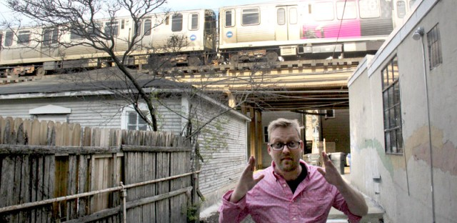 Collin Ashmead-Bobbitt pays $500 a month in rent, but his apartment backs up to the Red, Brown and Purple CTA lines.