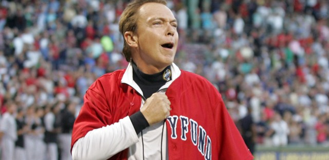 Entertainer David Cassidy has revealed that he is now fighting dementia. He's seen here after singing the national anthem at Boston's Fenway Park in 2009.
