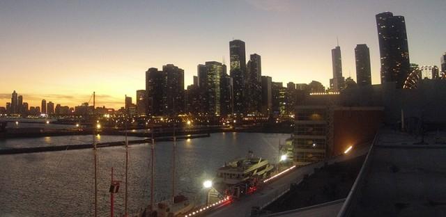 Sunset at Navy Pier: December 13, 2012 time-lapse