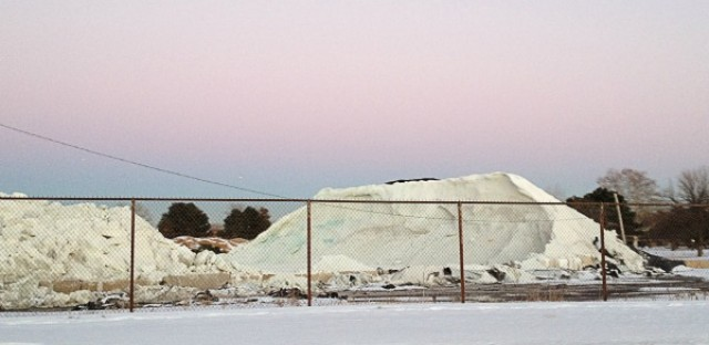 The Chicago salt pile that Oak Parker Aaron Stigger sees on his way to work.